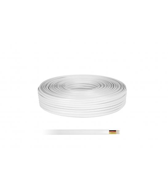 Kabel telefoniczny 4C biały 100 LXK511