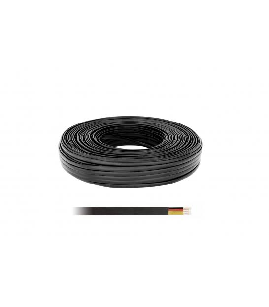Kabel telefoniczny 4C czarny 100 LXK512