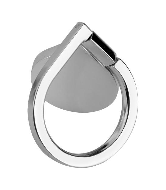 Uchwyt uniwersalny typu pierścień do telefonu srebrny