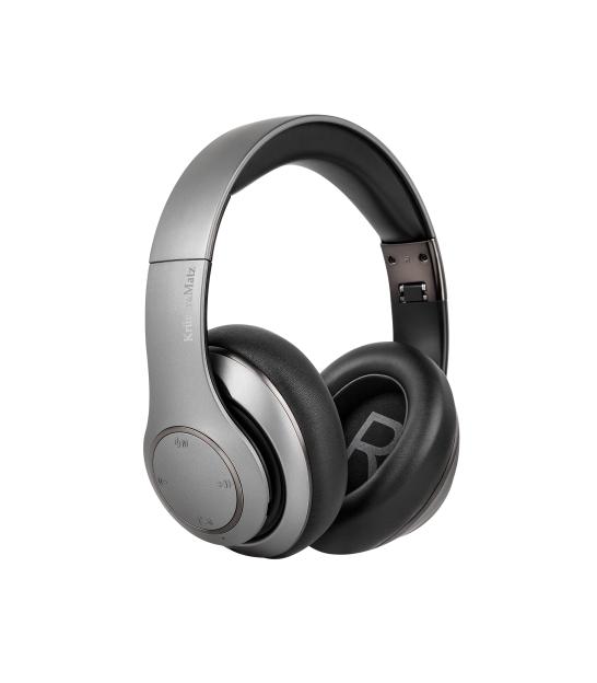 Bezprzewodowe słuchawki nauszne Kruger&Matz model Street 3 Wireless, kolor grafitowy