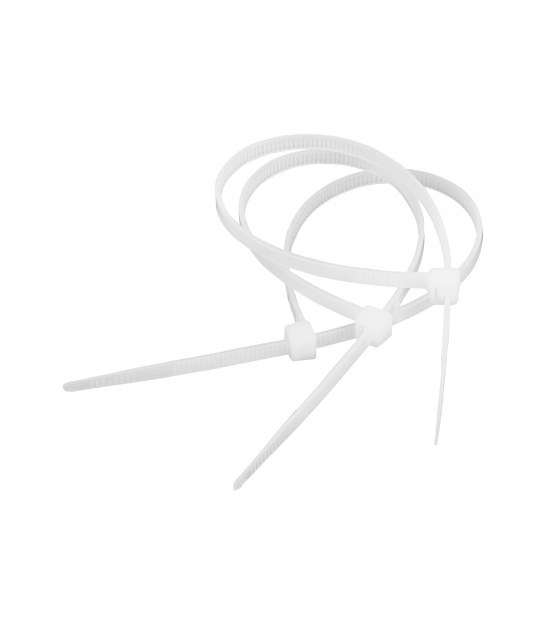 Opaska zaciskowa 2,5 mm/10 cm biała Cabletech 100szt.