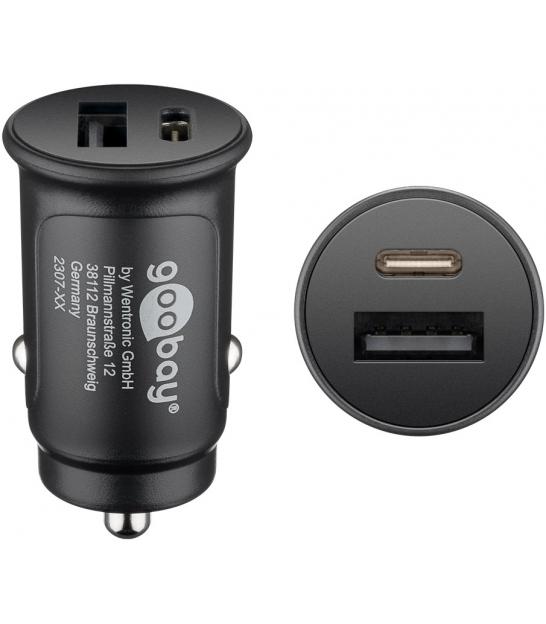 Podwójna ładowarka samochodowa USB-C™ PD (Power Delivery)