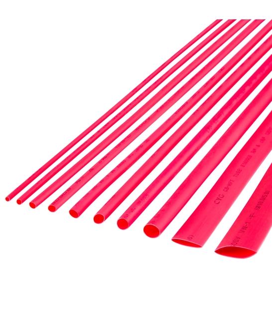 Rurka termokurczliwa 6,5 mm-1 m czerwona Cabletech