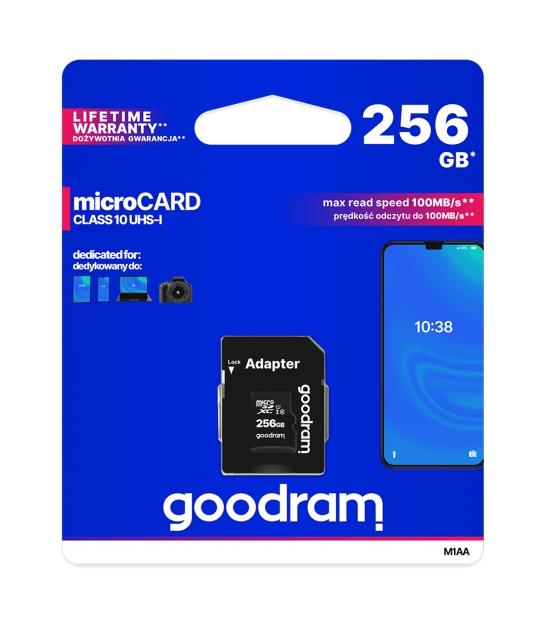Karta pamięci microSD 256GB UHS-I Goodram z adapterem