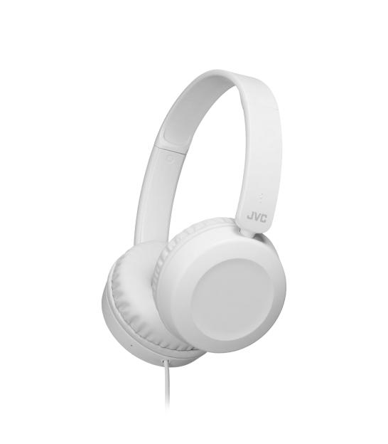 JVC HAS-31 WE Przewodowe słuchawki nauszne z pilotem i mikrofonem białe