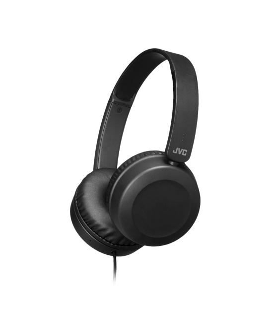JVC HAS-31 BE Przewodowe słuchawki nauszne z pilotem i mikrofonem czarne