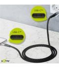 Kabel tekstylny USB-C™ / USB-C ™ z metalowymi wtyczkami 2m Goobay