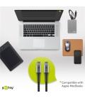 Kabel tekstylny USB-C™ / USB-C ™ z metalowymi wtyczkami 1m Goobay