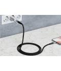 Kabel tekstylny Micro USB / USB-A z metalowymi wtyczkami 0,5m Goobay