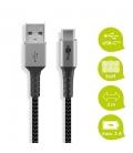 Kabel tekstylny USB-C ™ / USB-A z metalowymi wtyczkami 2m Goobay