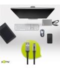 Kabel tekstylny USB-C ™ / USB-A z metalowymi wtyczkami 1m Goobay