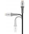 Kabel tekstylny iPhone Lightning / USB-A z metalowymi wtyczkami 1m Goobay